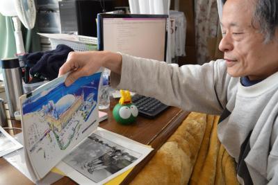 「ぷよぷよランド」というアミューズメントパークの建設計画を語る仁井谷正充さん=千葉・新松戸