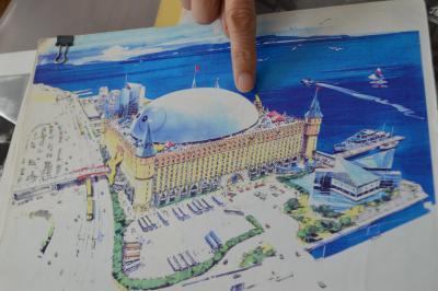 「ぷよぷよランド」の完成イメージ図。千葉・幕張が建設予定地だったという
