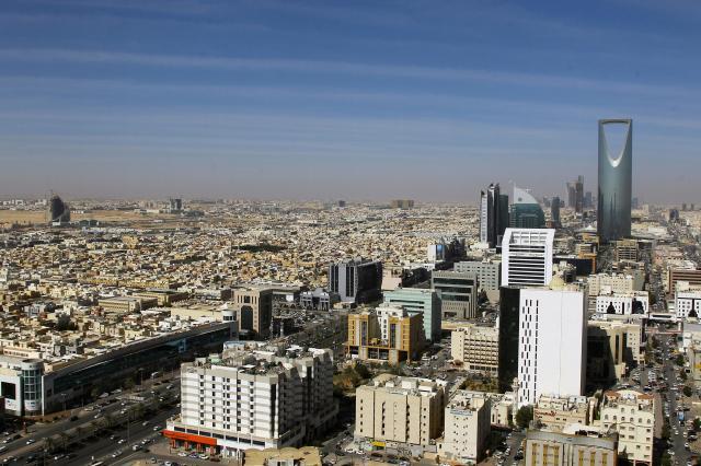 サウジアラビアの首都リヤドの様子=2017年1月1日