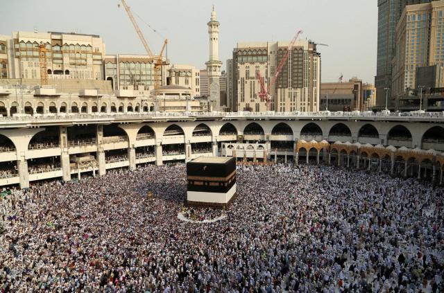 巡礼のため、聖地メッカに集まったイスラム教徒=2016年9月8日