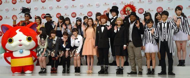 紅白出場を決めたHKT48やMay J.ら=2014年11月26日、東京都渋谷区のNHK放送センター
