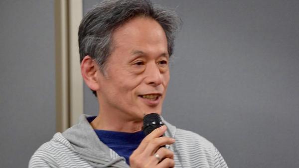 ゲームイベントに参加した仁井谷正充さん=4月29日、東京・千代田区