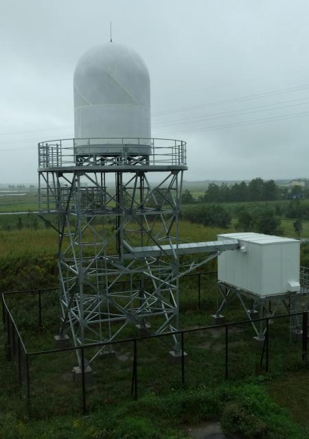 高精度で雨量を観測できる、XバンドMPレーダ=2013年9月、北海道北広島市