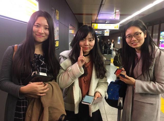 春山さんの新会社に入社予定の学生3人。生まれて初めての日本ですが、堪能な日本を話す。