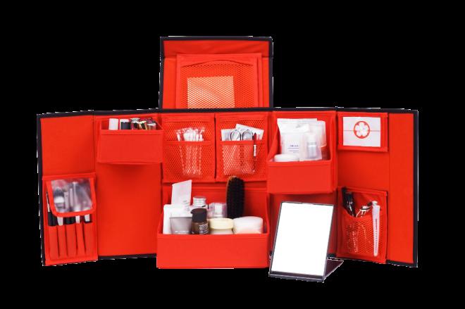 回収した空き瓶を材料に開発されたコスメティックボックス
