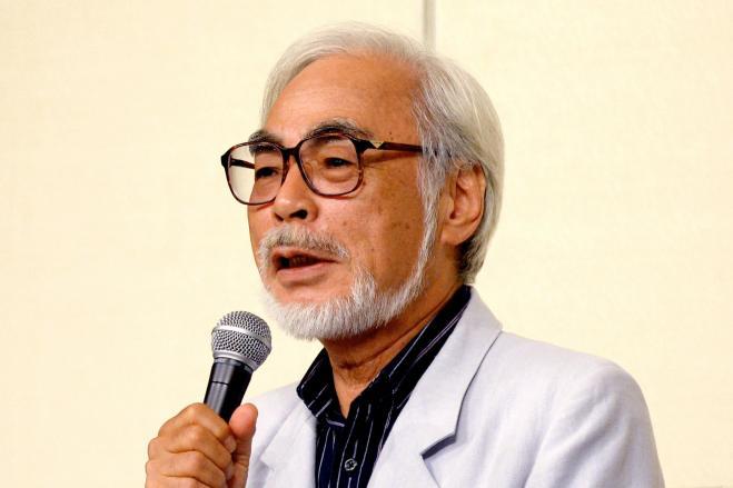 2013年9月の引退会見で、質問に答える宮崎駿監督