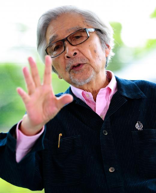 のんさんと対談する山田洋次監督=鬼室黎撮影