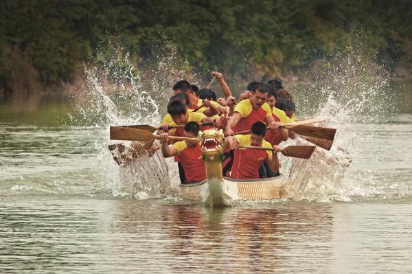 ドラゴンボートの試合