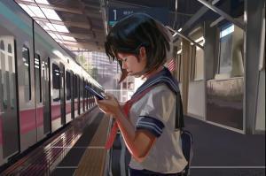 「リアルすぎる駅」と話題のCG…作者は18歳 独学で描いた「光」