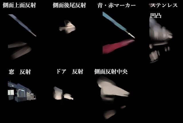重ね合わせてある7つのアニメーション=ajisaさん提供