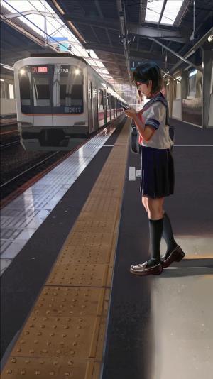 「下校・昼」のワンシーン=ajisaさん提供