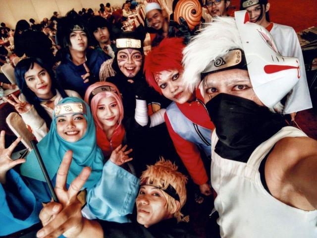 「NARUTO」のコスプレを楽しむマレーシアの人たち