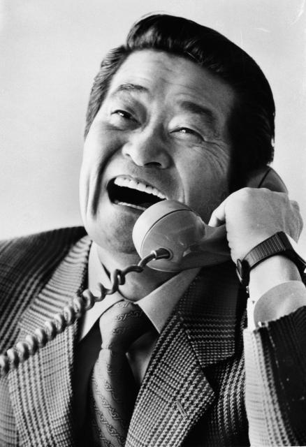 法廷ドラマの役者たち~「赤かぶ検事奮戦記」で検事を演じたフランキー堺=1984年11月