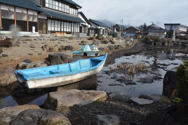 謎のボート=福井県越前市