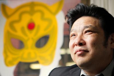 初代タイガーマスクの佐山聡さん=2007年7月23日、東京都文京区