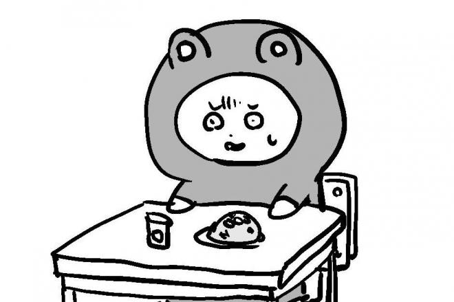 漫画「給食」の一場面=作・吉谷光平さん