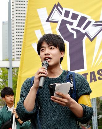 「エキタス」の中心メンバーで大学4年生の栗原耕平さん=吉沢龍彦撮影