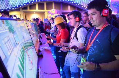ゲーム見本市「E3」の任天堂ブース=6月14日、米ロサンゼルス