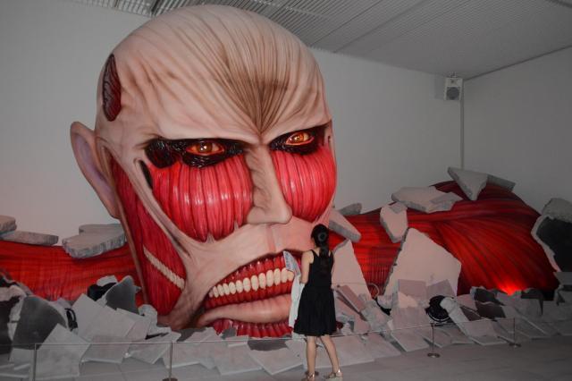 大分県立美術館で開かれた「進撃の巨人」展=2015年8月1日