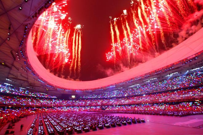 北京オリンピックの開会式=2008年8月8日