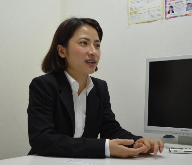 グエンさんは「就活を通して、自分も成長できた」と話します。=6月8日、東京都新宿区、野口みな子撮影