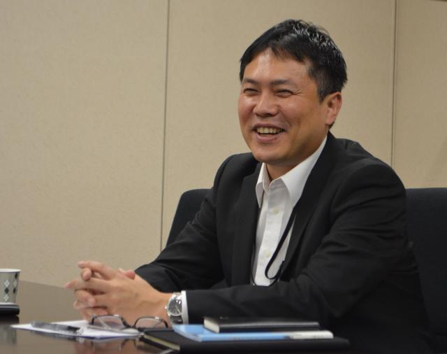 三和ホールディングス株式会社の元木崇延さん。=6月22日、東京都新宿区、野口みな子撮影