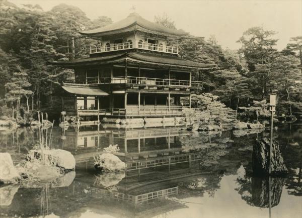 1950年7月2日未明の放火で焼失する前の金閣寺
