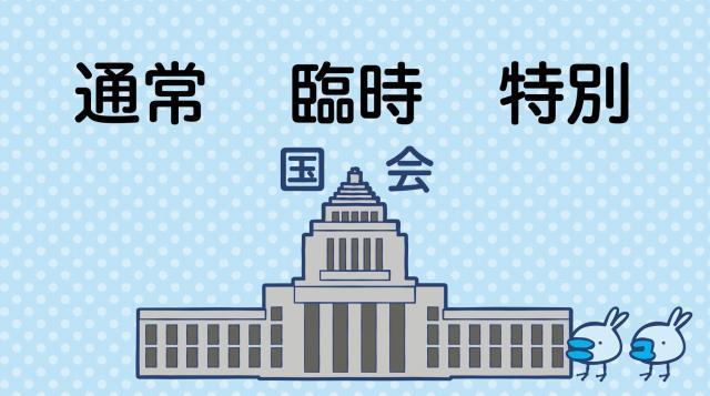 国会は「通常国会」のほかに「臨時国会」「特別国会」とあわせて全部で3種類ある=グラフィック・岩見梨絵