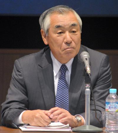 折木良一・元防衛省統合幕僚長=東京都渋谷区の青山学院大学