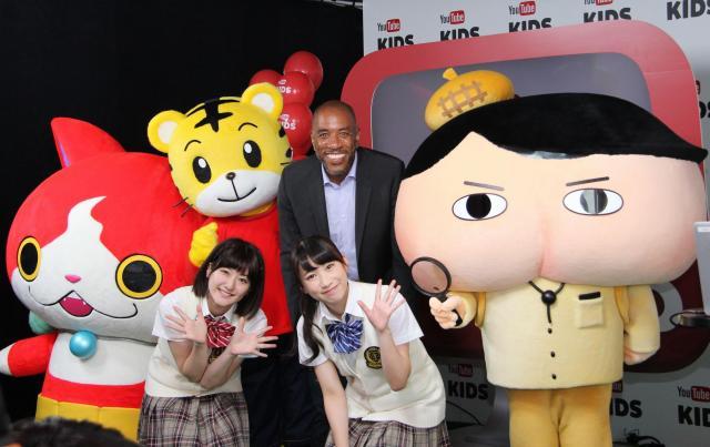 「YouTubeキッズ」日本版アプリの報道発表では、コンテンツパートナーの紹介があった=東京都港区のグーグル