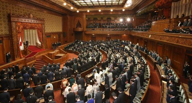 通常国会の開会式=2017年1月20日