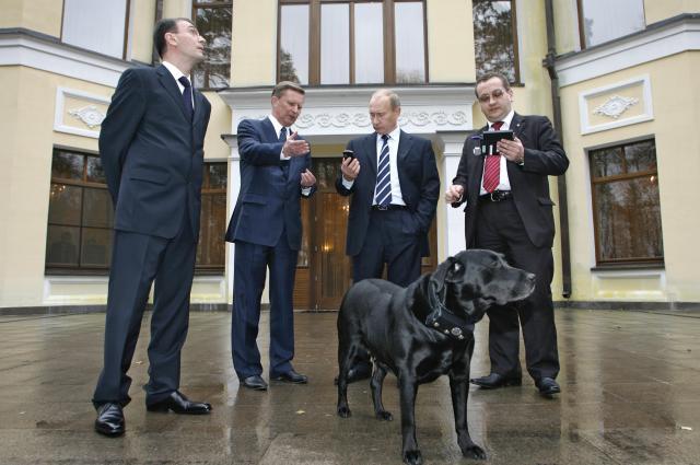 プチン大統領の愛犬の「Koni」=2008年10月、ロイター