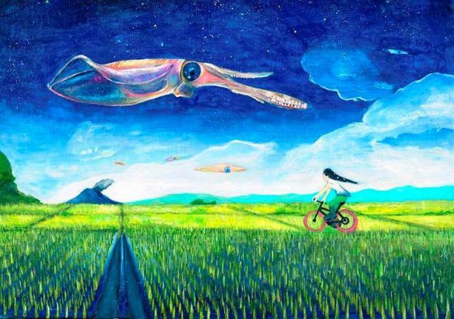 雑誌「モノ・マガジン」の自転車特集の表紙に採用された「サイカリング」という作品=宮内さん提供