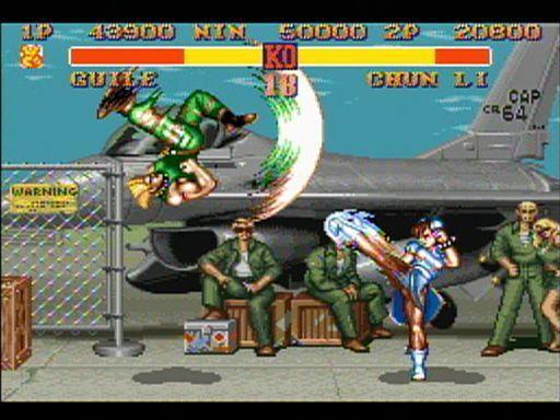 『ストリートファイターII 』のスーパーファミコン版の画面=カプコン提供