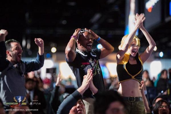 『ストリートファイターⅤ』の世界大会=CAPCOM U.S.A.提供