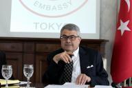 トルコ大使公邸で記者会見を開いたメリチ駐日大使は、クーデター未遂事件から1年を振り返った=7月14日、東京都渋谷区、野上英文撮影