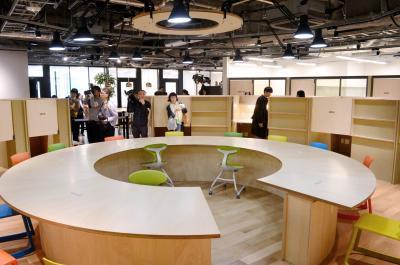 渋谷キャストのシェアオフィススペースの一部=東京都渋谷区