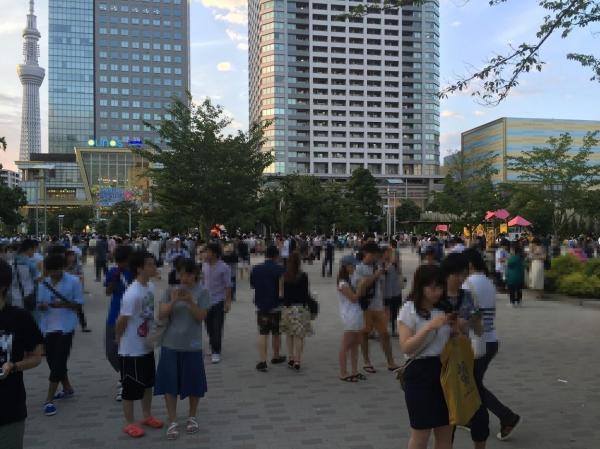 一年前の錦糸公園=2016年7月24日