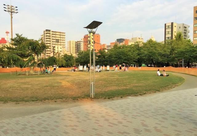 3連休の最終日だった7月17日に訪れた錦糸公園。1年前のようにポケモンGOをする人であふれてはいなかった