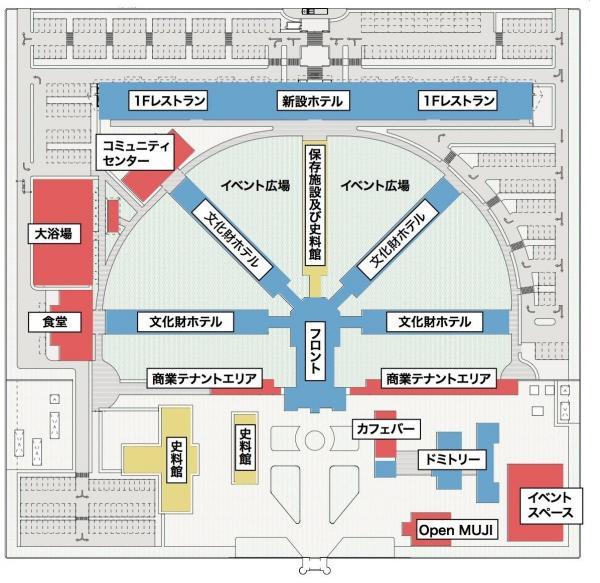 「監獄ホテル」の全体イメージ図=ホテル運営会社「ソラーレホテルズアンドリゾーツ」提供
