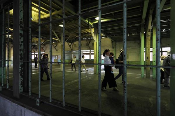 刑務作業が行われていた第2実習室=2017年7月、内田光撮影