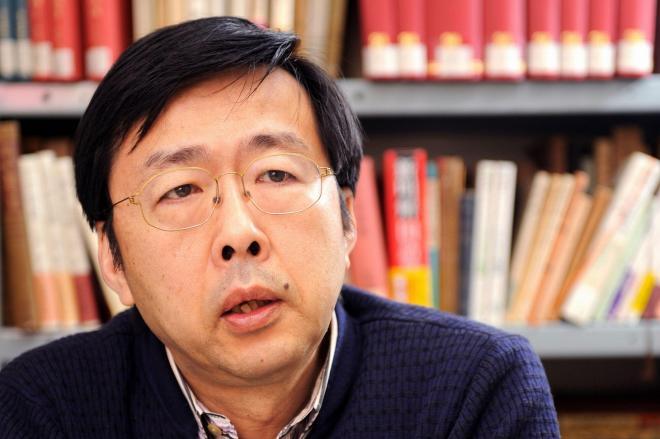 金水敏さん=2012年の朝日新聞より