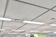 自分の職場の天井もトラバーチン模様でした
