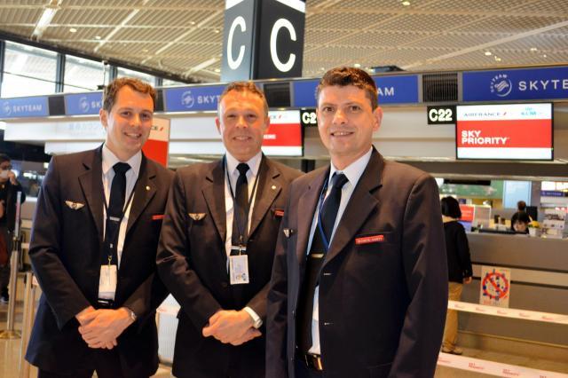 エールフランス航空の男性CA=成田空港