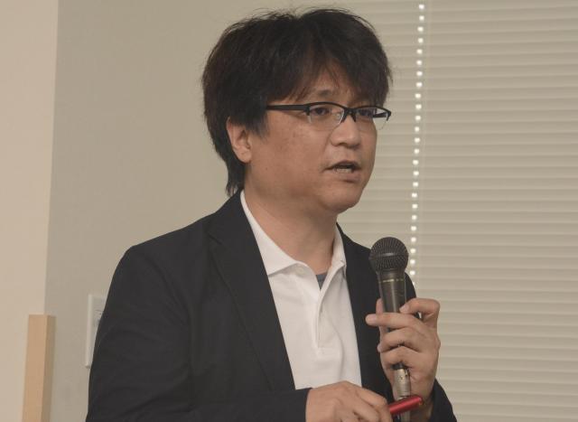 RSウイルスについて説明する神奈川県立こども医療センターの今川智之さん