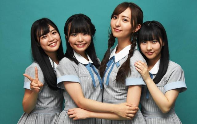 HKT48のメンバー、左から本村碧唯、渕上舞、森保まどか、田中美久のみなさん