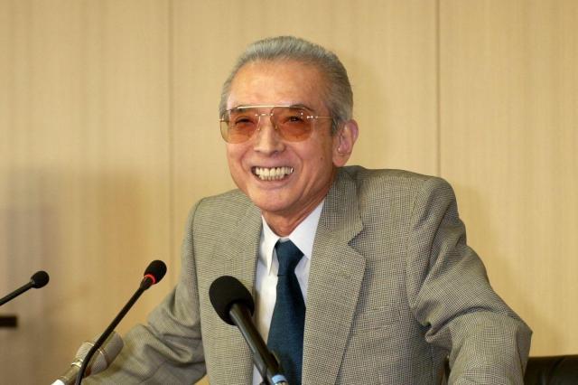 任天堂のカリスマ経営者として知られた山内溥氏=2002年5月24日