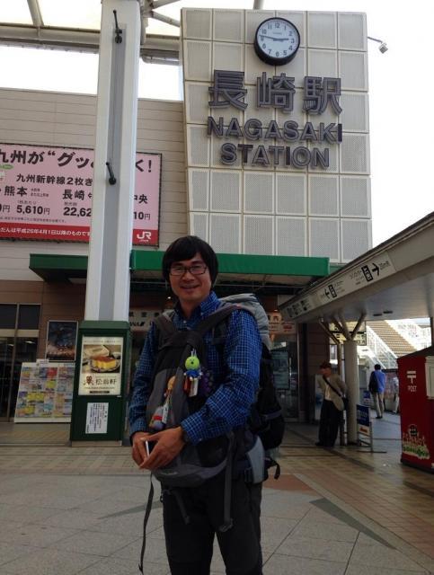列島縦断の終点の長崎駅=2016年5月4日