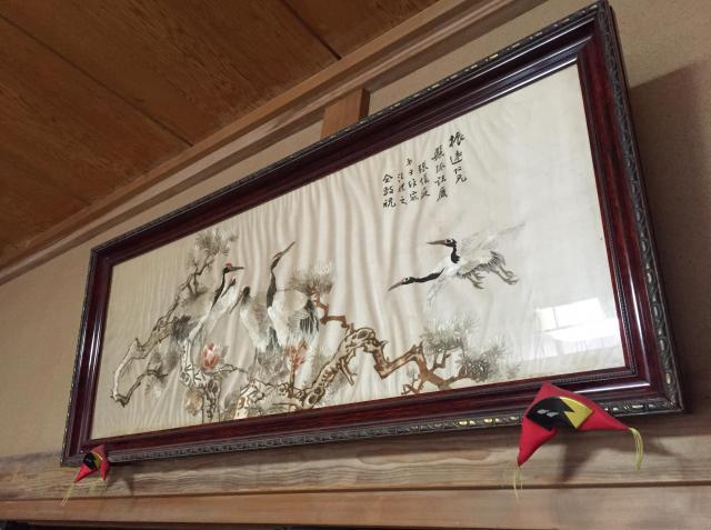 おばあちゃんが大切に飾っている「蘇繡」の刺繡