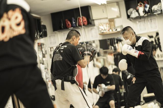 辰吉選手の練習風景